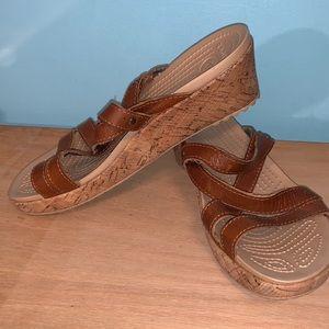 Croc Cork Wedge Sandals Size 7